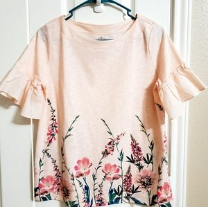 Summer floral Bell sleeve top/blouse...NWOT